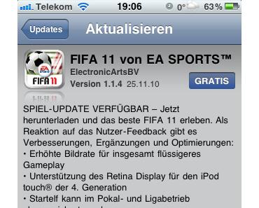 FIFA 11 fürs iPhone – Update & Gewinnspiel