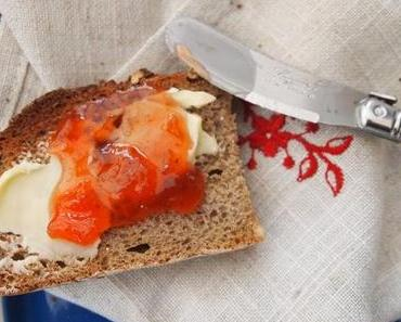 'Jamin it' Rhabarber-Erdbeer-Melonen Marmelade aromatisiert mit Mallorca Zitrone
