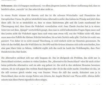 Alternative für Deutschland: Georg Schramm übt sich in Unkenntnis