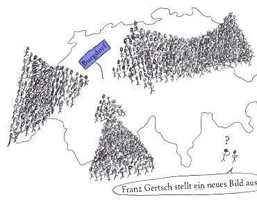Cartoon: Gertsch zeigt ein Bild
