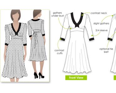 Ein Jersey-Kleid....