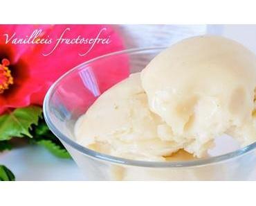 Vanilleeis mit Reismilch laktosefrei, eifrei & fructosearm