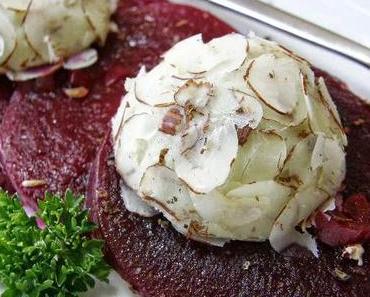 Die Geschichte vom unaufhaltsamen Aufstieg eines Geht-so-Gemüses: Marinierte Rote Beete mit Gorgonzola-Crème