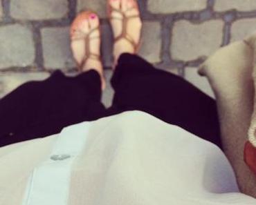 QUICK OUTFIT...Lazy Pants & Transparente Bluse