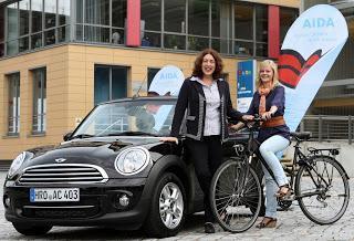 AIDA setzt auch an Land auf umweltfreundliche Mobilität - Mitarbeiter profitieren von Car Sharing und Firmenfahrrädern