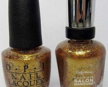 [Dupe] OPI Goldeneye vs. Sally Hansen Gilded Lilly