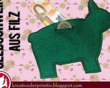 Geldschwein aus Filz