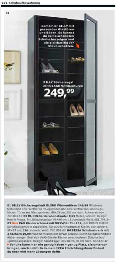 Ikea Billy als Schuhregal