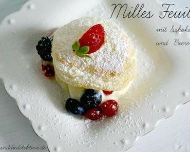 Mille - Feuilles mit weißer Schokolade und Beeren - Rezept
