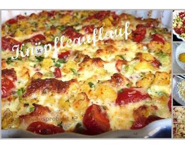 """Mahlzeit!  Vegetarischer """"Knöpfleauflauf"""" mit Salat"""