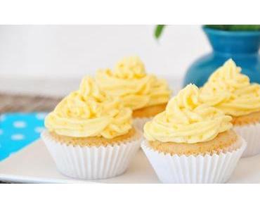 Vanille-Cupcakes mit Vanillecreme glutenfrei, vegan & fructosearm