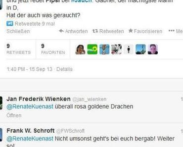 """Fipsi : Grüne Rassistin Renate Künast beleidigt """"Fipsi"""" Rösler ganz böse!"""