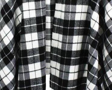 3 Ideen für ein trendy Karo-Poncho-Styling