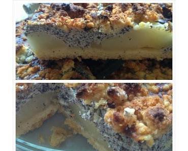 Birnen-Mohn-Kuchen