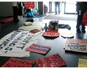 Berlin: Protest gegen Zwangsräumungen bei Wohnungsbaugesellschaften