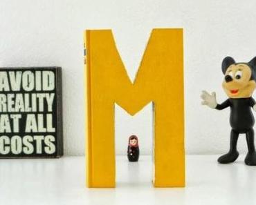 DIY... Buchstaben aus Büchern