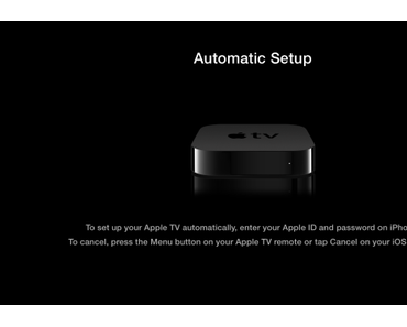 Apple TV 3 – Ersteinrichtung per iBeacon / Touch Setup