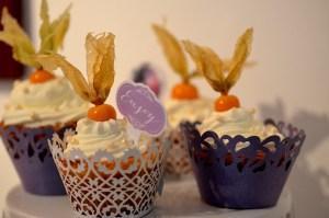 Physalis-Cupcakes (vegan)