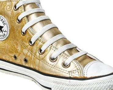 #Converse Schuhe All Star Chucks mit Gold Glitzer 101407 High Tops Limited Edition