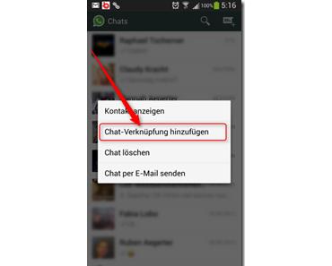 WhatsApp: Mit Chat-Verknüpfungen Chats direkt vom Startbildschirm aus starten