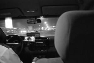 Eine Taxifahrt durch Bangkok