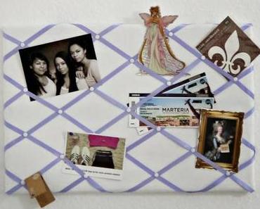 DIY! Pinnwand mit Stoff und Bändern