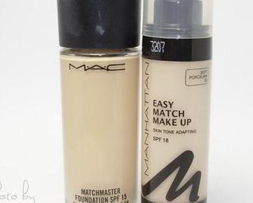 Vergleich: MAC Matchmaster und Manhattan Easy Match Foundation