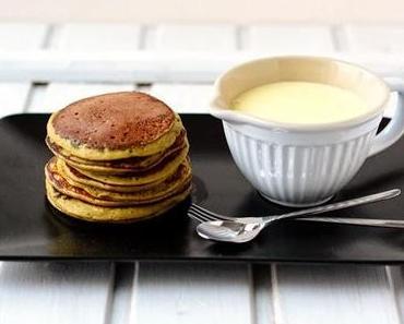 Matcha-Bananen-Pancakes