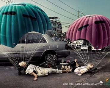 Printwerbung: Sicherheit im thailandischen Straßenverkehr