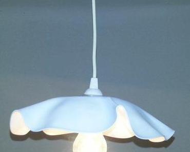 DIY Lampenschirm aus alter Schallplatte