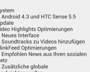 Android 4.3 für das HTC One wird gerade verteilt.