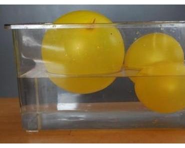Eintauchtiefe von Luftballons