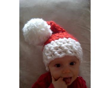 Baby-Weihnachtsmannmütze