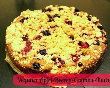 Rezept: Veganer Apfel-Beeren-Crumble-Kuchen