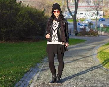 Outfit: Animal Print Sweater and Skirt