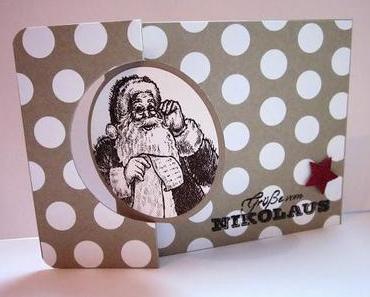 Grüße vom Nikolaus - Grüße zum Fest - Pop Up Karte - Thinlits Circle Card