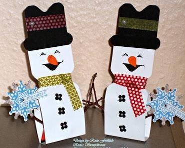 Kleine Schneemänner mit dem Envelope Punch Board