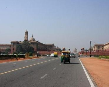 Zu Fuß in Delhi vom Rashtrapati Bhawan zum India Gate