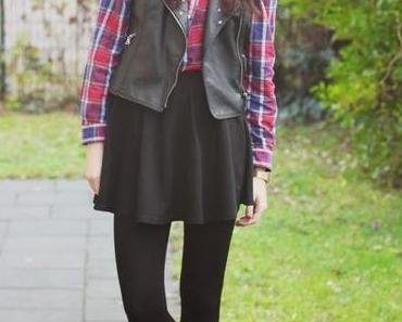 OOTD: Tartan and Skaterskirt!
