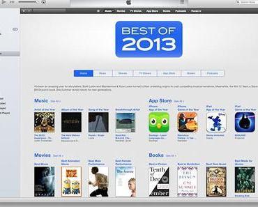 """iTunes """"Das Beste aus 2013″: Musik, Apps, Filme, Podcasts, Bücher"""