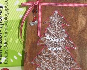 Weihnachtsliches Nagelbild