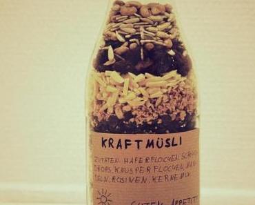 Geschenk in letzter Minute: Müsli in der Flasche