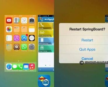 Erste iOS 7 Jailbreak Tweaks: SwitchSpring, FlipControlCenter, HiddenSettings7, Video Zoom Mod