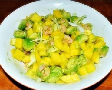 Fruchtig frisch, exotisch und oberlecker: Avocado-Garnelen-Salat mit Mango