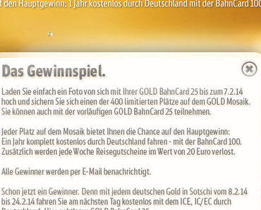 Gewinnspiel der Bahn koppelt Teilnahme an Kauf der Bahncard Gold