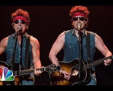 "Bruce Springsteen & Jimmy Fallon: ""Gov. Christie Traffic Jam"" (""Born To Run"" Parodie) [Video]"