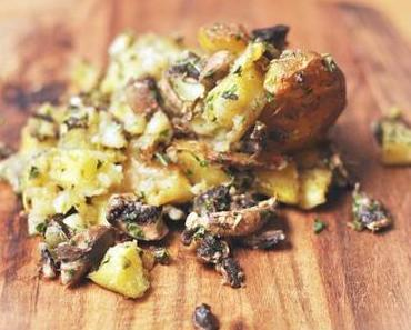 [vegan] Buchstäbliche Quetschkartoffeln vom Blech