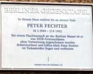 Gedenktafel für Peter Fechter