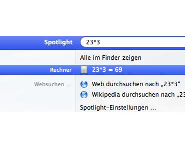 Spotlight als Rechner verwenden: #MacBookPro