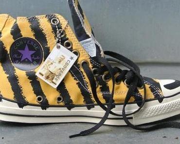 #Converse Chucks Gelb Schwarz gestreift Sondermodell Limited Edition 101710 #Streifen